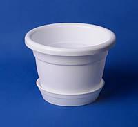 Цветочный горшок с подставкой 1л (белый), фото 1
