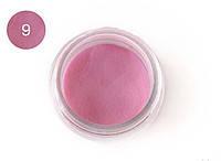 Цветная акриловая пудра 3D, для лепки, #009 Розовый, Velena, 5г
