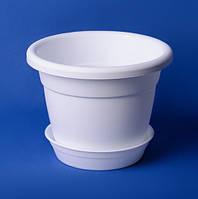 Горшок для цветов с подставкой 1.75л (белый), фото 1