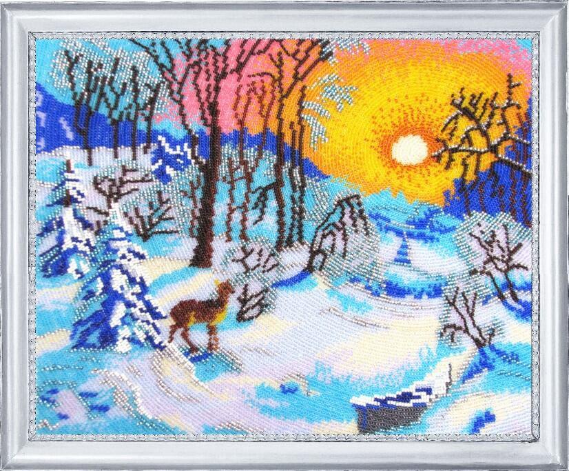 """Набор для вышивания бисером """"Зимнее утро"""""""