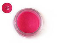 Цветная акриловая пудра 3D, для лепки, #012 Малиновая фуксия, Velena, 5г