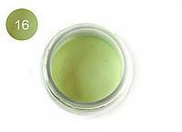 Цветная акриловая пудра 3D, для лепки, #016 Бледно-Зеленый, Velena, 5г
