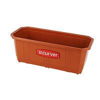 Ящик для цветов балконный пластиковый 390Х170Х148 мм пластиковый Curver CR-04313