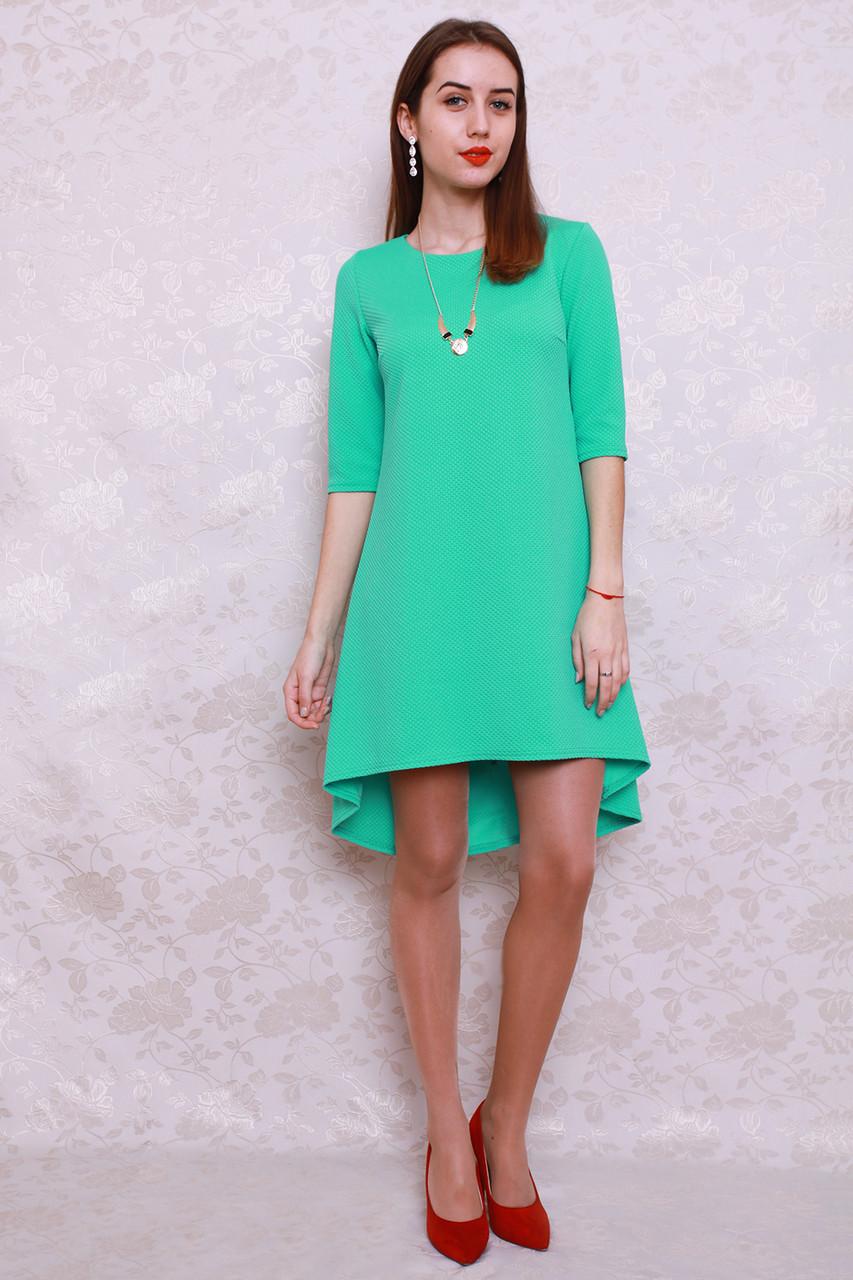 6a169f4e998 Оригинальное женское платье ассиметричного кроя с украшением в комплекте -  Оптово-розничный магазин одежды
