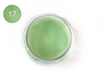 Цветная акриловая пудра 3D, для лепки, #017 Зеленая пастель,Velena, 5г