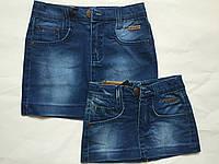 Детская джинсовая юбка для девочек, синий, 122-146