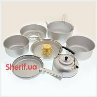 Набор посуды с горелкой алюминий MIL-TEC 14700500