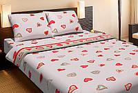 Постельное белье Lotus Ranforce Love Is красный двуспального размера