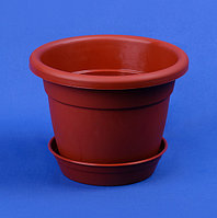 Горшок для цветов с подставкой 1.75л (коричневый), фото 1