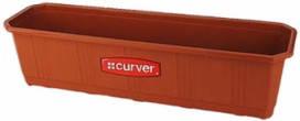 Ящик для цветов балконный пластиковый 590Х170Х148 мм пластиковый Curver CR-04314