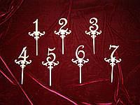 Топпер Цифры, украшения для тортов (15 х 12 см), декор