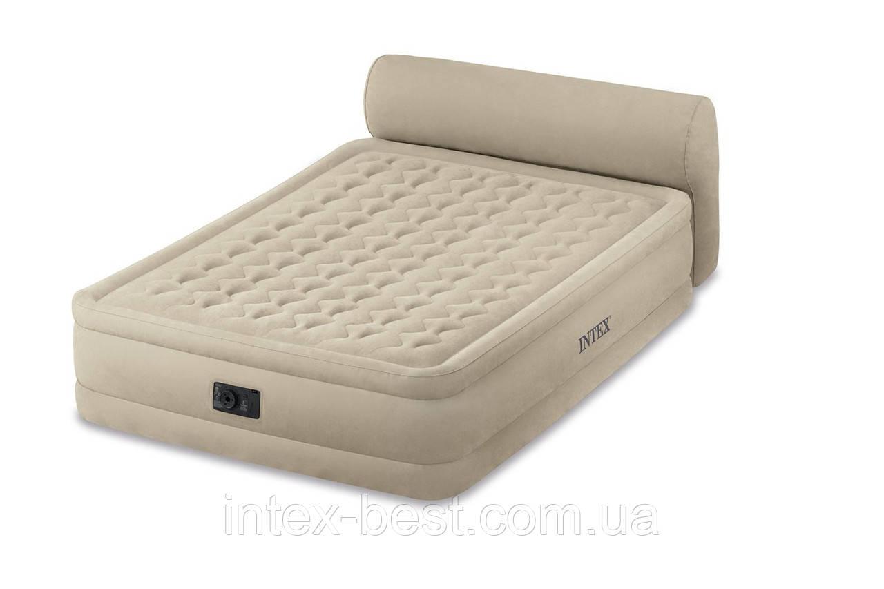 Intex 64460 - надувная кровать Queen Headboard 229x152x79см
