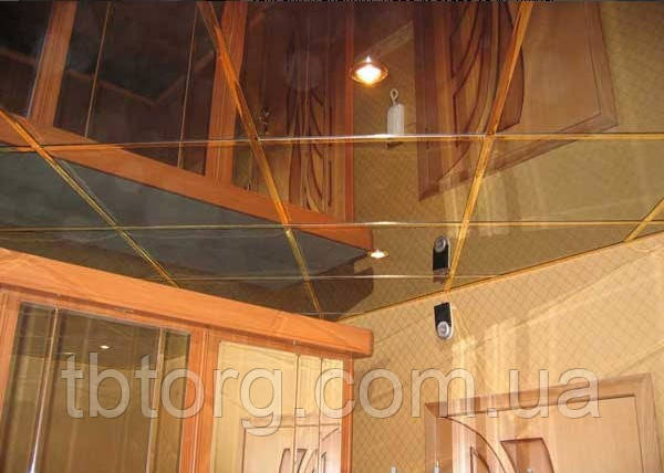 Зеркальная плитка на потолок, фото 2