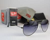 Cтильные солнцезащитные очки Aviator RB 3026 blue gradient, фото 1