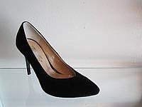 Туфли женские замшевые на шпильке
