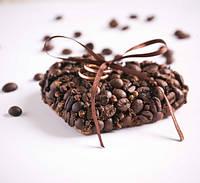 """Свадебная подушечка для колец """"Кофе"""" (10х10см)"""