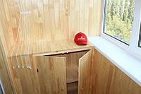 Встроенная тумбочка на балкон
