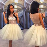 Платье нарядное с фатиновой юбкой 448 (Р 1064)