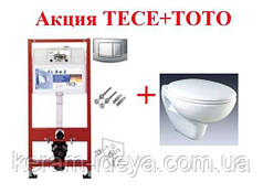 Комплект Унитаз подвесной ТОТО CW620J+ сиденье Soft close + Инсталяция 4 в 1 ТЕСЕ 9400005