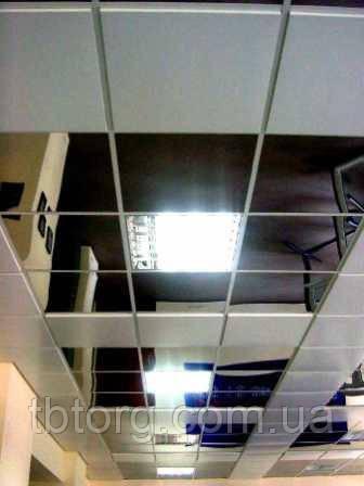 Зеркальный потолок в коридоре, плиты 600х600