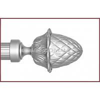 Декоративные наконечники к кованым карнизам ø25мм цвет сатин-никель