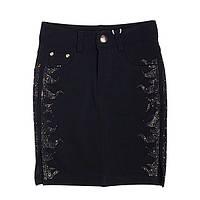 Модная юбка для девочек украшенная стразами