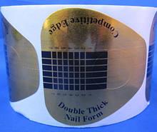 Форми для нарощування нігтів золоті широкі 500 шт