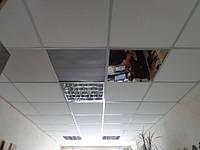 Зеркальный подвесной потолок в ванной, плиты 600х600