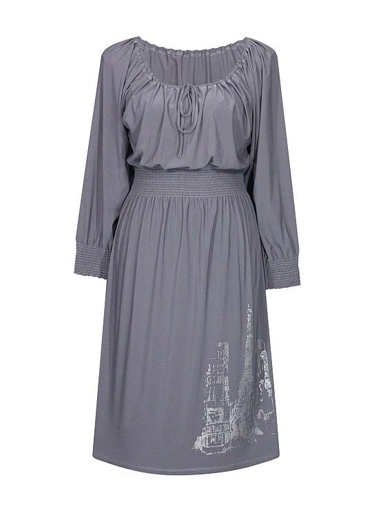 Платье с рукавами Париж