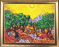 """Набор для вышивания бисером """"Солнце в оливковом саду"""""""