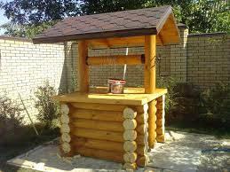 Конструкции деревянных колодцев