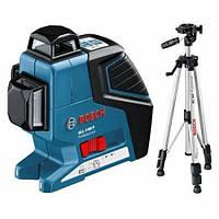 Нивелир лазерный линейный Bosch GLL 3-80 Р + Штатив BS 150 ALC