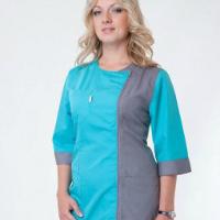 медицинский женский костюм с коротким рукавом