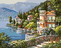 Картина по номерам без коробки Цветущее побережье (BK-G347) 40 х 50 см