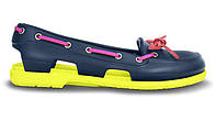Женские  Crocs Beach Line Boat Shoe Purple Green Pink
