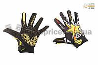 "Перчатки   ""PRO-BIKER AND MONSTER ENERGY""   (size:L, черно-желтые)"