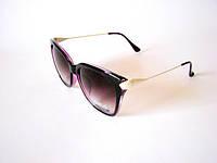 Солнцезащитные очки OMEGA. ФИОЛЕТОВЫЕ. Заушник украшен ЗВЁЗДАМИ.