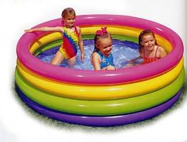 Детский надувной бассейн Intex 168*41 пылающий закат