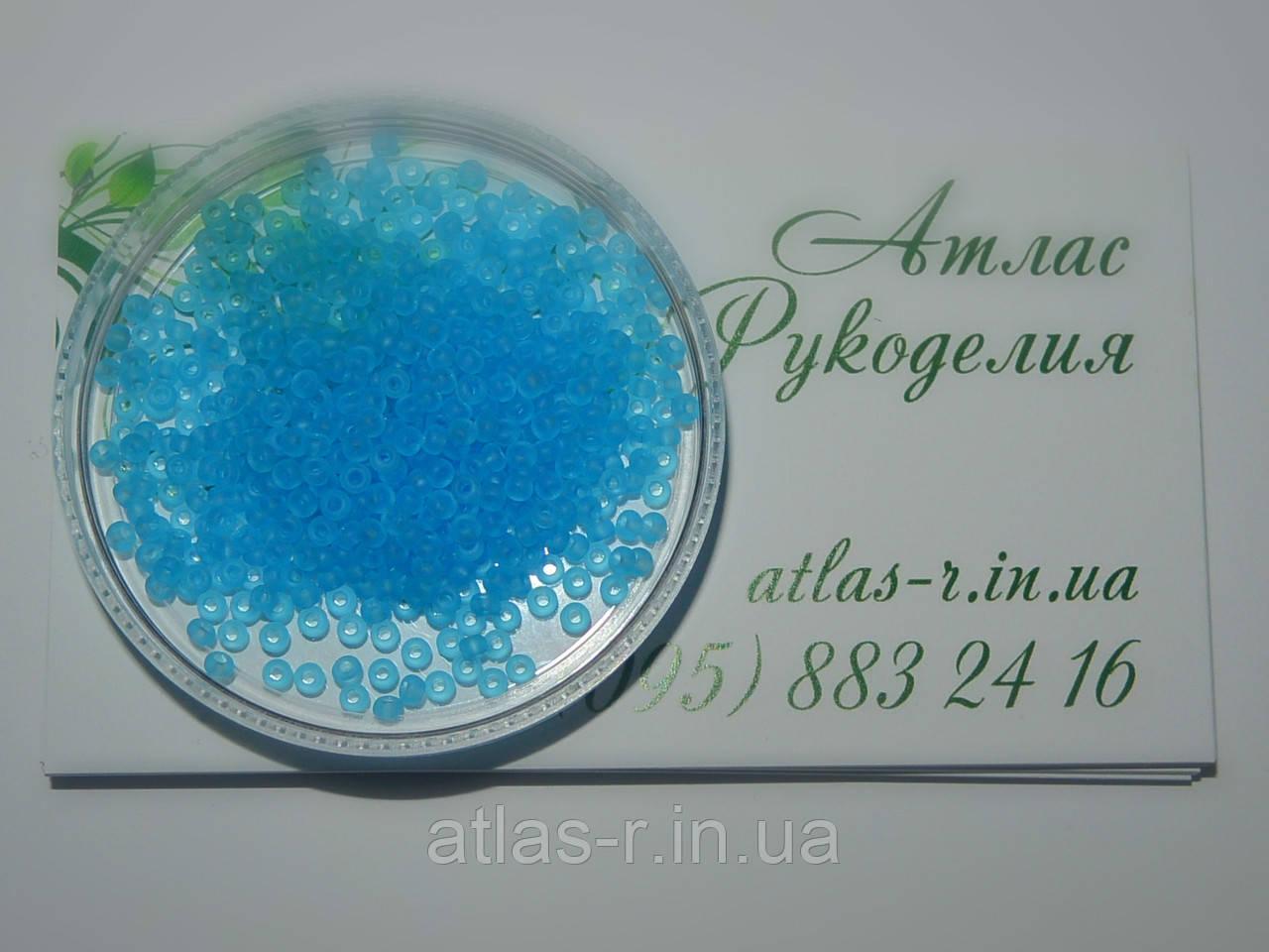 Бисер Preciosa Чехия №60010 matt 1г, светло-голубой, прозрачный, матовый