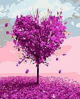 Картина раскраска по номерам без коробки Дерево любви (BK-GX7460) 40 х 50 см