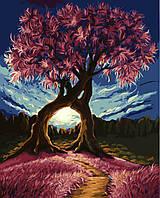 Картина раскраска по номерам без коробки Сплетение ветвей (BK-GX8326) 40 х 50 см