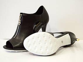 Босоножки женские черные на каблуке Balidoner 005-2, фото 3