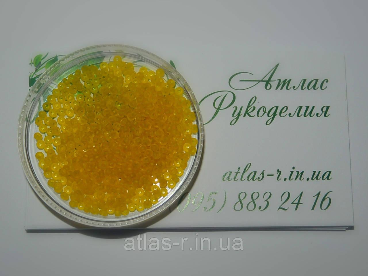 Бисер Preciosa Чехия №80010 matt 1г, желтый, прозрачный, матовый