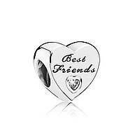 "Шарм бусина Pandora (Пандора) ""Best Friends"""