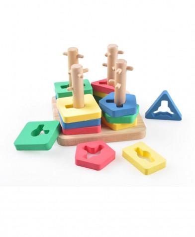 Деревянная игрушка МДИ Логический квадрат малый (Д105)