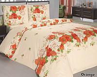 Постельное белье 160х215/70*70  ARYA Classi Flora оранжевый