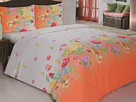 Постельное белье 160х215/70*70  ARYA Classi Gardenia оранжевый
