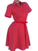 Тонкое женское платье из хлопка (в расцветках)