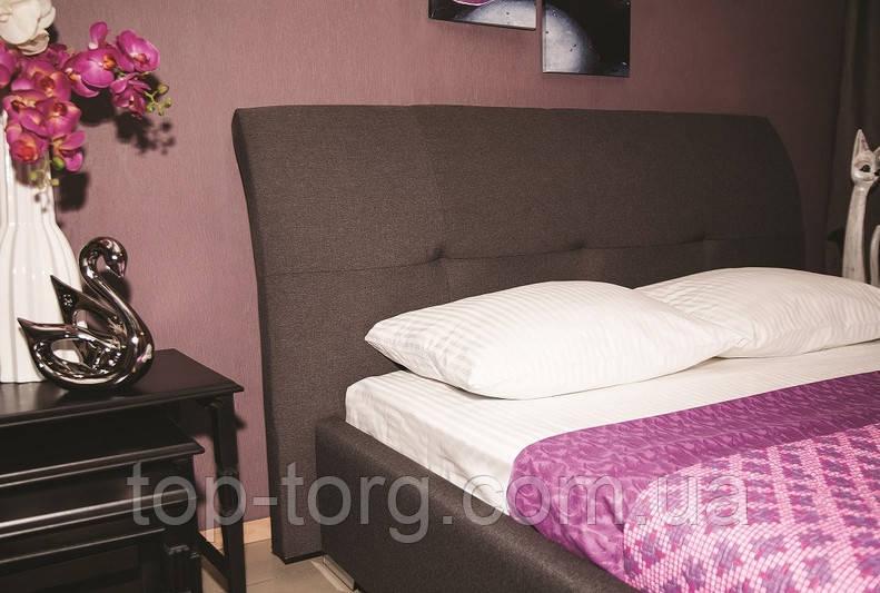Кровать София-2 серая, двуспальная,1600х2000