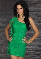 Распродажа по закупке. Гипюровое платье изумрудного цвета L2592-2